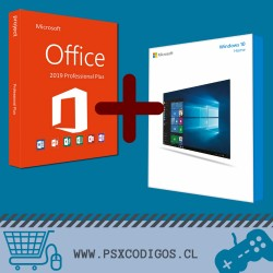 Windows 10 Home + Office 2019 Professional Plus