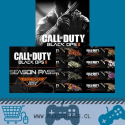 CALL OF DUTY PACK: BLACK OPS II + Seasson Pass + TODOS los Camuflajes PS3