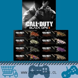 CALL OF DUTY PACK: BLACK OPS II + TODOS los Camuflajes PS3
