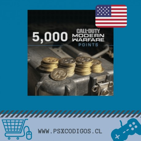 Call Of Duty Warzone: 5000 POINTS [PS4 CHILE]